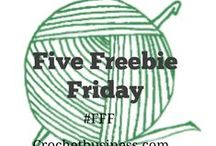 Five Freebie Friday's / crochetbusiness.com shares free resources from around the web each Friday #fff Share yours by using the hashtag #FFF on social media (every Friday)  / by Sara - Momwithahook