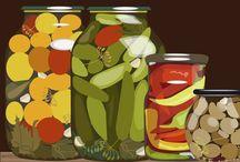 Pickle Motiff / Paraphernalia with a pickle theme. / by Karen Solomon