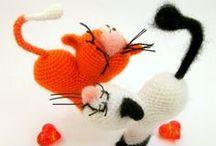 Cat Heart ValentinCat crochet pattern / Cat heart ValentinCat Amigurumi crochet pattern and all the projects LittleOwlsHut / by LittleOwlsHut