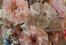 """Handmade Flowers, So Pretty / by Charlotte """"CJ"""" Lepp"""
