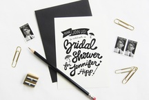 design | invitations & paper goods / by Ashley Heafy