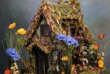 Fairy Gardens/Fairy & Gnome homes, Fairy furniture / Inspiration for fairy gardens, fairy/gnome houses and fairy/gnome/pixie/elf miniatures / by Kristiane Chappell Punkaspie Art