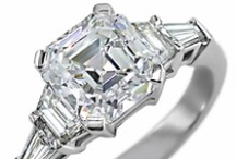 CZ Engagement Rings / CZ Jewelry Set in 14k gold, 18k gold, & platinum by Ziamond Cubic Zirconia Jewelers. / by CZ Jewelry