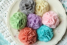 Paper + Fabric Flowers / by Heather Driscoll