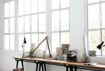 Work spaces / #office #coworking #work #scenes #ambient #space #interiors #decoration #extras / by María José Castañer