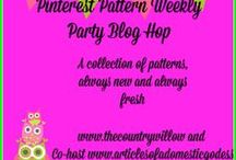 Pinterest Pattern Weekly Party / You will find some amazing free and paid patterns here on this weekly blog hop!!  Click and enjoy!!  LIKE IT? PIN IT?  / by The Country Willow