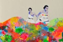 art ness / Things I like...paint, collage, stitch / by Rachel H