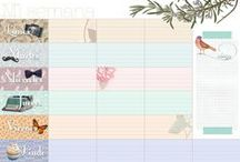 Organization Printables / Planners, checklists, timetables, advices...  / by Rebeca Aguilar