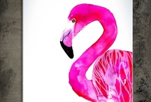 flamingos! / flamingos were my absolute favorite back in the 6th grade. looks like they are making a comeback! / by Jodi McKee
