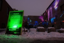 KEEN Northern Lights - #keepitwild / In celebration of the wild places KEEN has pledged to protect, we undertook the task of taking an empty lot in downtown Salt Lake City and turning it into a 3-day visual representation of the Northern Lights. / by KEEN