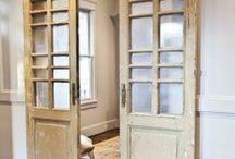 barn doors. / kitchen / living room / closet doors / by Kirsten Johnson