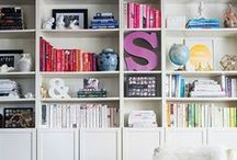 Living Area & Library Organization / by Live Simply by Annie