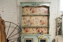 Shabby Chic HUTCHES, ARMOIRES, SIDEBOARDS, SHELVES and CABINETS / by Ronda