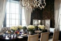 Dining Rooms  ~ Style And Ingenuity For The Holidays / How To Add Style And Ingenuity To The Dining Room By  World Class Designers at #IntDesignerChat  / by InteriorDesignerChat