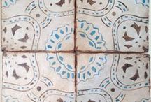 Maison Collection / Handpainted terracotta tile to add rich pattern to any space. Made in California / by Filmore Clark