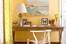 desks + workspaces / although i prefer not to work, i do admire a pretty workspace / by Amanda Conley