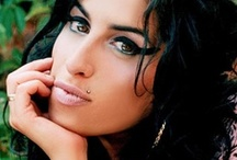 AMY / Amy Jade Winehouse (14 Sept1983 – 23 July 2011) was an English singer and songwriter known for her eclectic mix of musical genres including R&B, soul and jazz. Her 2003 debut album, Frank, was critically successful in the UK. The 2006 follow-up album, Back to Black, led to 6 Grammy Award nominations and 5 wins, tying the then record for the most wins by a female artist in a single night, and made Amy the first British female to win five Grammys. She died of alcohol poisoning on 23 July 2011. / by Christine Elliott