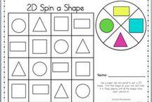 2D Shapes / by Kristen's Kindergarten