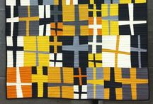only solids in quilts / Quilts made by using only solid fabrics / by Zen Chic, modern quilts by Brigitte Heitland