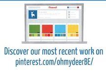 Graphic Design by Oh my deer!  / Oh my deer! est une agence de communication graphique.  Suivez-nous sur pinterest.com/ohmydeerBE/ - www.ohmydeer.be  -  Facebook ohmydeer.be  -  Twitter @OhMyDeerBE / by Delphine Coulon