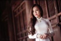 Female Long Dress (Áo Dài Nữ) / Long Dress For Female - Áo Dài Dành Cho Nữ / by Ao dai Vietnam