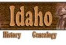 Idaho History & Genealogy / History and resources for #genealogy in #Idaho #familyhistory / by Robin Foster:  Genealogy & Social Networking