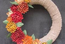 Buntings, Banners and Wreaths / Buntings, banners and wreaths, oh my!  A collection of DIY and handmade decor for your home and office. / by Craftster