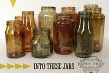 Bottles, Jars, Vases, and Hearts / You don't have to toss out that bottle, jar, or vase when you give it a piece of your heart. / by Melody