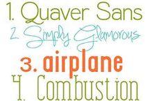 Fantastic Fonts / by Ellen Hutson LLC