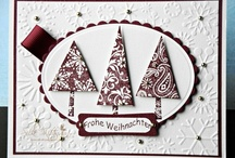 Cards Christmas SU Patterned Pines / by Soni Larson