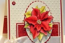 Cards Christmas Poinsettias / by Soni Larson