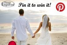 """Pin it to Win it - Things Engraved Wedding Gifts / Create a board on Pinterest named """"Things Engraved Wedding Gifts"""" and pin at least 20 wedding related gifts from www.thingsengraved.ca for your chance to win up to $500 worth of gifts & engraving services from Things Engraved! Winner will be randomly selected Feb 17th, 2014.     (Contest Rules: http://blog.thingsengraved.ca/pinterest/)                                                                                              See pins below for examples! / by ThingsEngraved"""