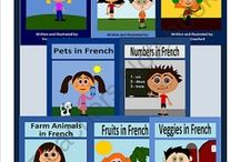 French for Kids / French for Children. Worksheets, Flashcards and Printouts for Kids to learn French easy. / by French Language