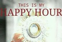 "The Holy Eucharist / The Holy Eucharist is a sacrament and a sacrifice. The whole Christ is really, truly, and substantially present in the Holy Eucharist at Mass. The word Eucharist means ""Thanksgiving"" reminding us to be grateful for his glorious sacrifice on the cross. / by The Catholic Company"