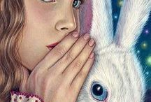 """All About Alice / """"Alice in Wonderland"""" - one of my favorite books as a child - Strangely fascinating. / by Terry Barton"""