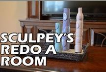 Sculpey's Re-Do a Room  / The whole month of October we will posting projects that we created to redesign our marketing managers living room. We hope you enjoy the inspiration! / by Sculpey
