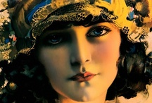 Rolf Armstrong / Painter of Calendars, Print Ads, and Pin-ups.  He sure captured the beauty of women. / by nearly~normal~nancy