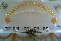 Balloon Decor / For a huge impact of colors the wedding balloon art work is an alternate way to go. Looks awesome when lite.  / by Mary's Flowers & Gifts, LLC
