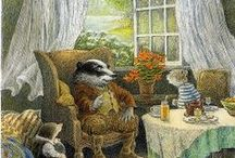 My Book Illustrations / Illustrations for books I have; Wind in the Willows, Robin Hood; Peter Pan; The Secret Garden; King Arthur; / by Jolanta Oszurko