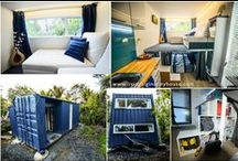 Tiny House / Shipping Container Home / by Kitty Cat  m a d e l y n