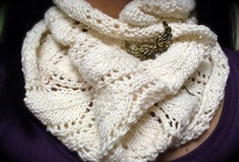 knit scarfs, scarfettes & cowls / Knitting patterns scarf & cowl / by Del