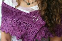 knit shawls, shawlettes, wraps & more / shawls, shawlettes, wraps, etc... / by Del