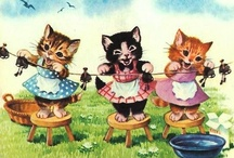 "Vintage Images: Cats / Vintage Cat Images ---- **NOTE: For Valentine's Day-related Vintage Cats, please see my ""Valentine's Day"" board.