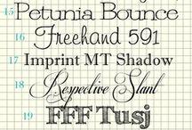 Graphic Design • Fonts / by Anita Sattler