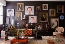 Decorating with Portraits / Vintage, contemp, boho or classic in style portraits add intrigue to walls / by Abigail Ahern