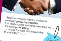 Social Selling Training, Tips & Infographics / Social selling is a sales technique that leverages social media to get and maintain a 360 degree picture of the clients and their influencers on an ongoing basis.  It's been shown to help sale professionals manage and maintain 5 times as many active customers compared to traditional techniques  and the same can be applied to any B2B company or professional service provider. / by Melonie Dodaro