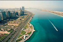 Corniche, Abu Dhabi / The Corniche spreads across an impressive eight kilometres of manicured waterfront that includes children's play areas, separate cycle and pedestrian pathways, cafés and restaurants, and the Corniche Beach - a lifeguarded beach park. / by Visit Abu Dhabi