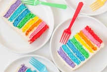 Rainbow Color Theme Party / by Abby
