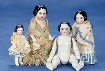 All Bisques, Figurines, and Miscellaneous Collectibles / Small dolls and collectibles that I love. Also see Susan Mitchell 2 for more pins. / by Susan Mitchell