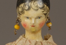 Antique Wax, Wooden, and Papier Mache Dolls / Also see Susan Mitchell 2 for more pins. / by Susan Mitchell